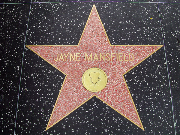 Jayne Mansfield's Hollywood Walk of Fame star